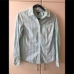 Tommy Hilfiger striped top.  Without model